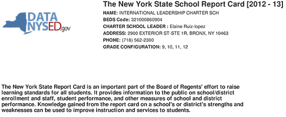 ILCHS 2013-NY-STATE-Report-Card